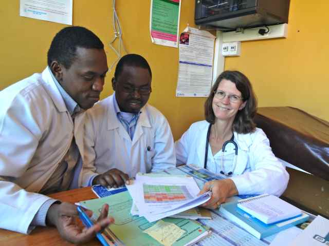 The HIV rotation, with Dr. Rogers and Dr. Jean de Dieu