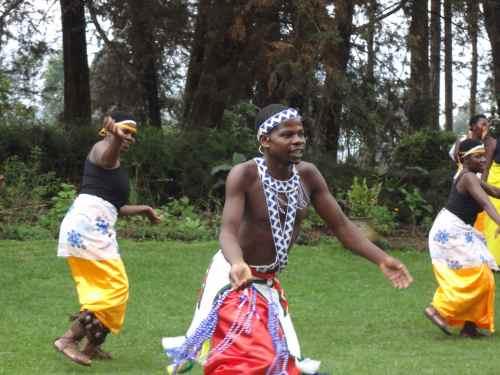 Dancing at Imbabazi Orphanage