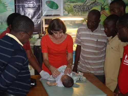Dr. Debbie teaches on the newborn exam