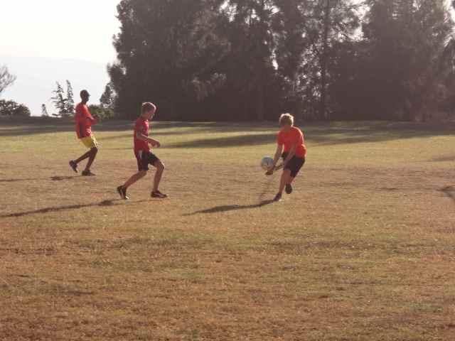 Caleb Jr in action, as goalie