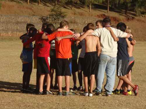Prayer time after soccer practice: One of the many reasons we love RVA