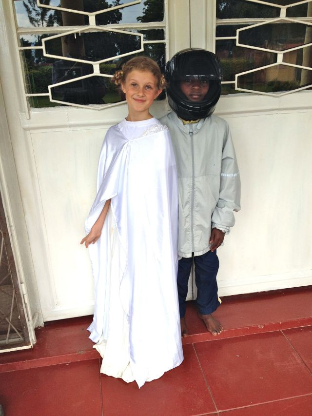 Princess Leia and Luke Skywalker