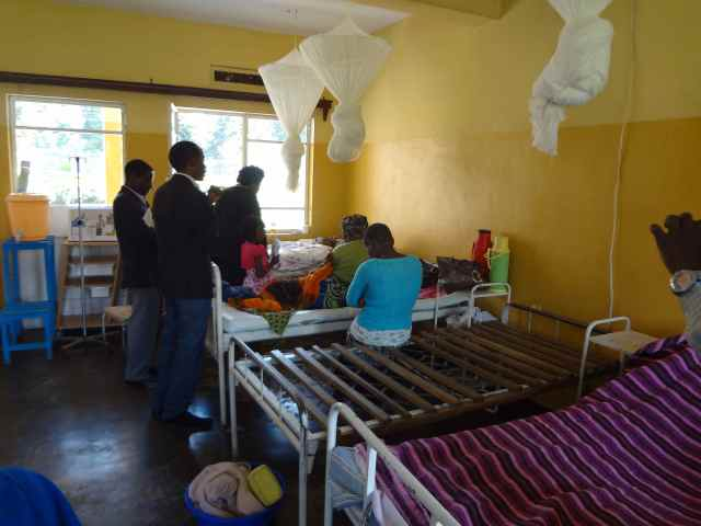Praying for patients at the hospital