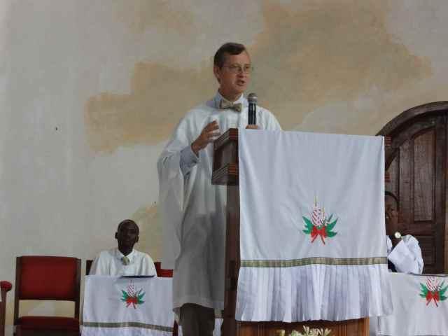 Caleb preaching