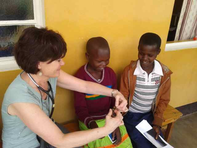 Julie bonds with the patients