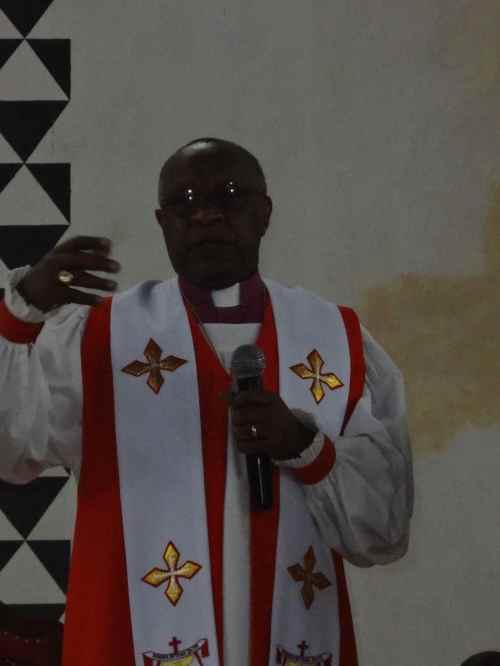 Bishop John Rucyahana gave the sermon