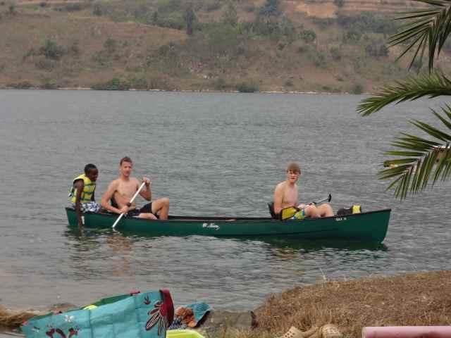 Enjoying the waters of Lake Kivu