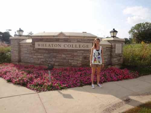 Sara at Wheaton College