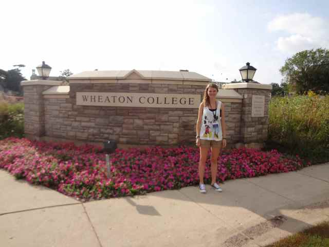 Sara at Wheaton College