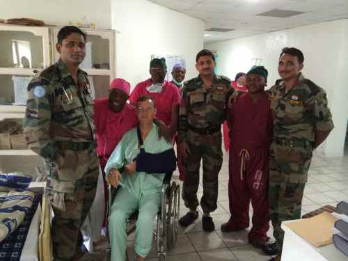 Immediately post op with Heal Africa and Indian/Monusco team