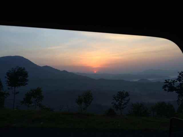 Sunrise on the way to Kigali