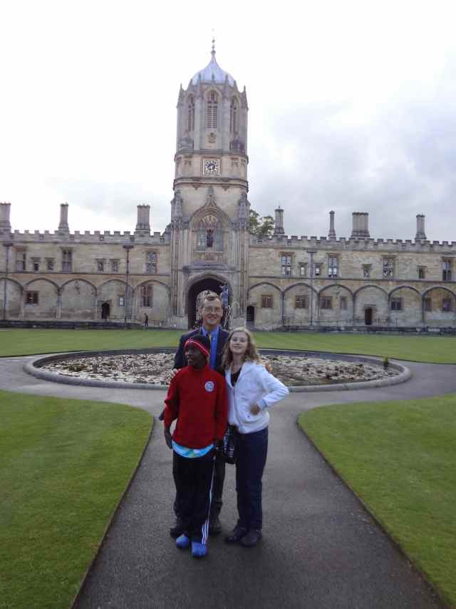 Tom Tower, Christ Church, Oxford (where Caleb studied many years ago)